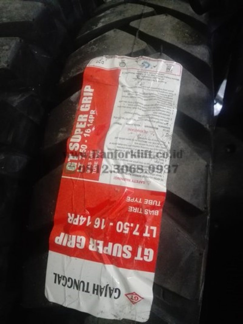 Ban Forklift ukuran 7.50 – 16 Gajah Tunggal